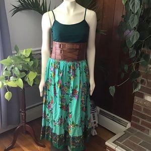 Amazing floral vintage maxi skirt 100% cotton